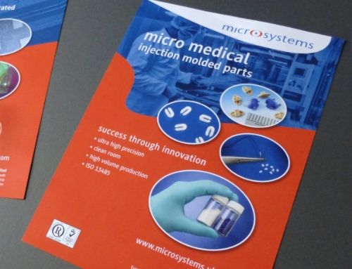 Microsystems, Micro Medical Brochure, Compamed Trade Fair, Germany, Print Design