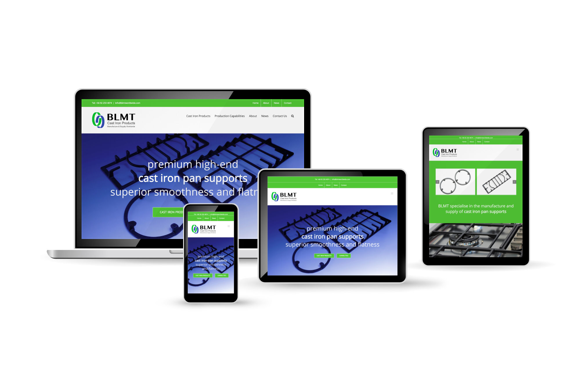 Professional Wordpress responsive Website produced for BLMT by orangebox