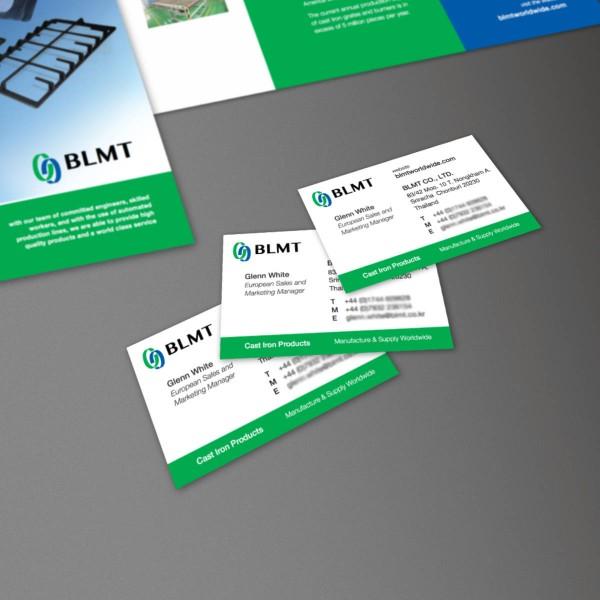 Business Card, Brand Development, Print Design, for BLMT by orangebox