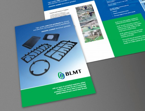 BLMT Company Brochure, Digital (Web PDF Download) and Print Design by Orangebox