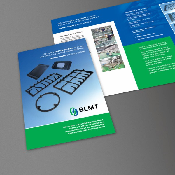Company Brochure, Print Design and Web PDF Download, produced for BLMT by orangebox