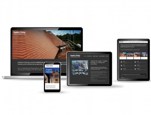 Haydock Slating, Roofing Contractor, mobile friendly WordPress web design | Orangebox Digital, Lancs