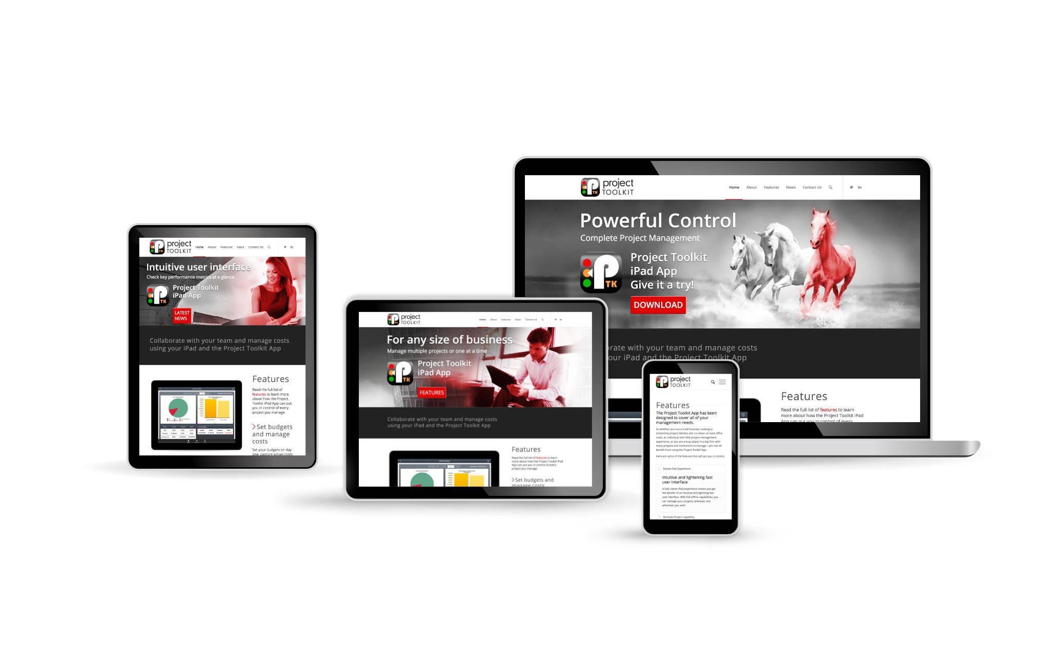 Project Toolkit iPad App website, design by orangebox