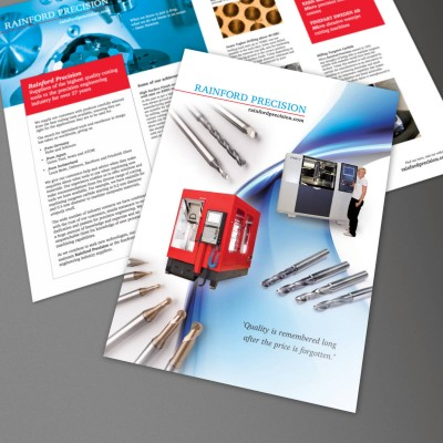 Company Brochure, Print Design and Web PDF Download, produced for Rainford Precision by orangebox