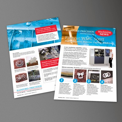 Rainford Precision Machining News, Finecut WMC 500, MACH 2018, Leaflet