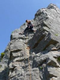 climbing, north wales, castle inn quarry, anne-marie, web designer, orangebox digital