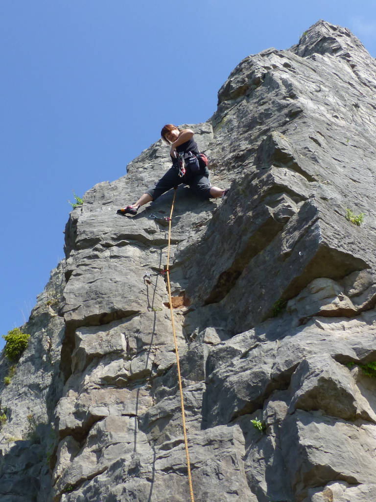 climbing, north wales, castle inn quarry, anne-marie, web designer, orangebox digital