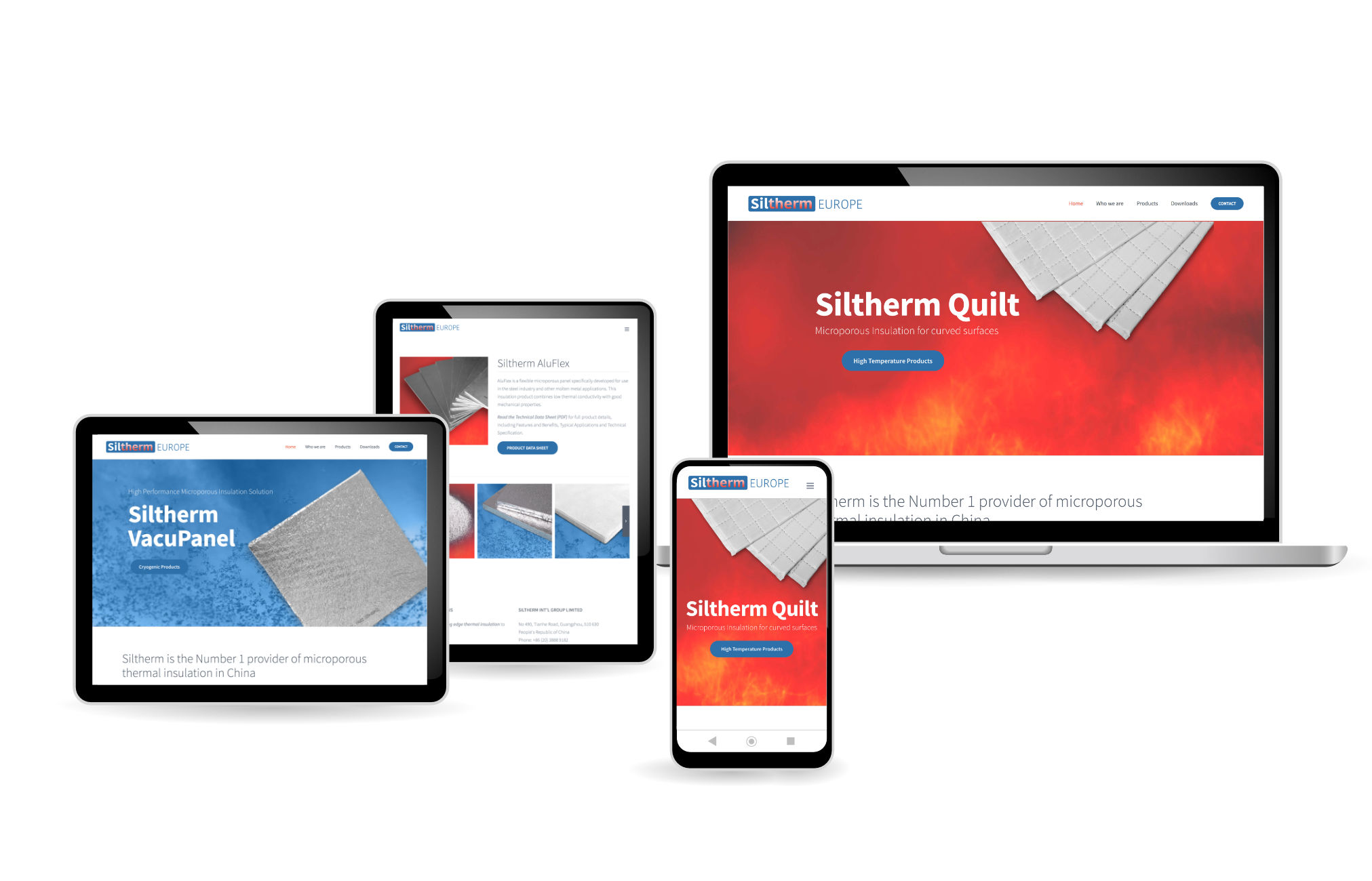 Siltherm Europe Web Design, Wordpress Website produced by Orangebox Digital