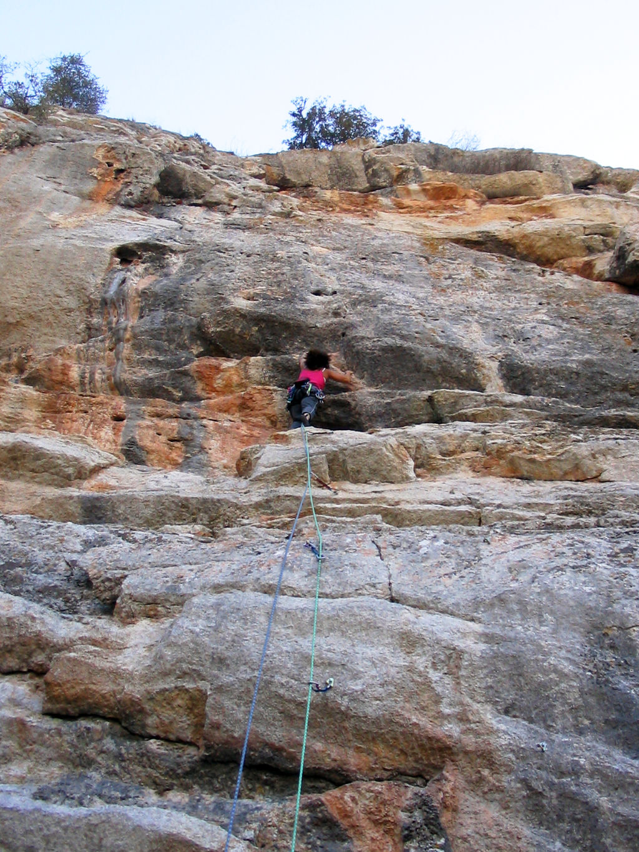 Anne-Marie climbing, DESPLOMILANDIA area, El Chorro, Spain