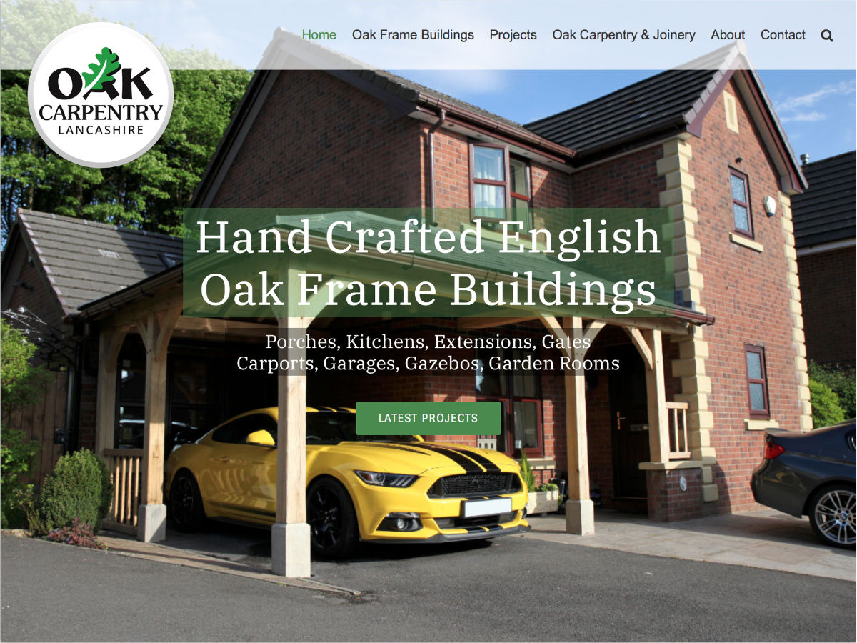 oak, carpentry, website, design, orangebox, digital, 2020